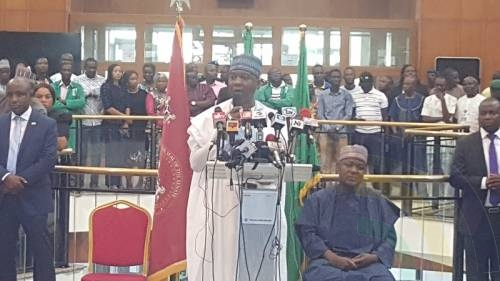 Saraki Gifts World Press Words - During his one-to-all press speech delivery