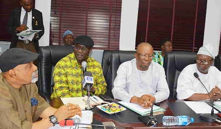 Chris Ngige and Other Officers at the Meeting - ASUU Agreements Met