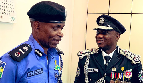 New IGP Adamu Mohammed with Ex-IGP of Police Ibrahim Idris K.