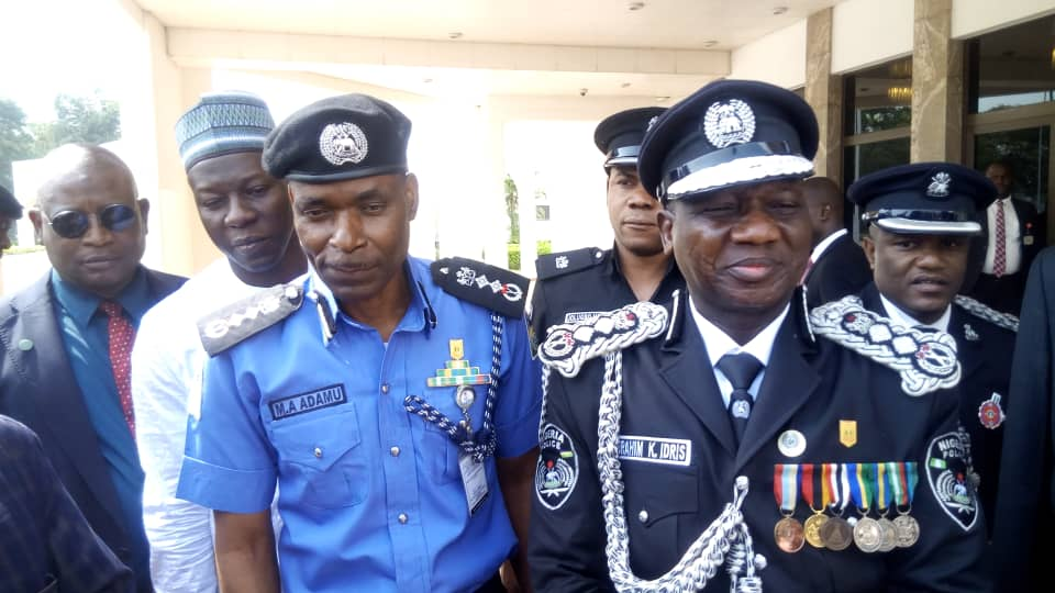 New IGP Adamu witht the Outgoing IGP Ibrahim Idris Kpotun