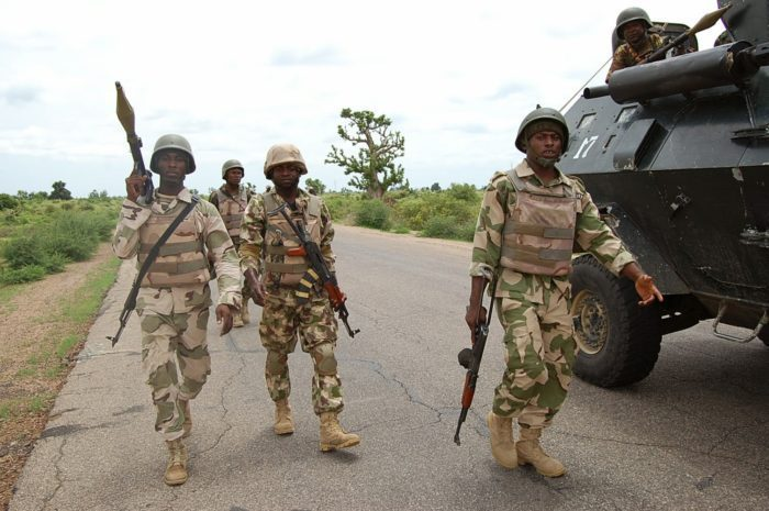 Stock Photo- Nigerian Army On Patrol - Boko Haram Suppliers Nabbed