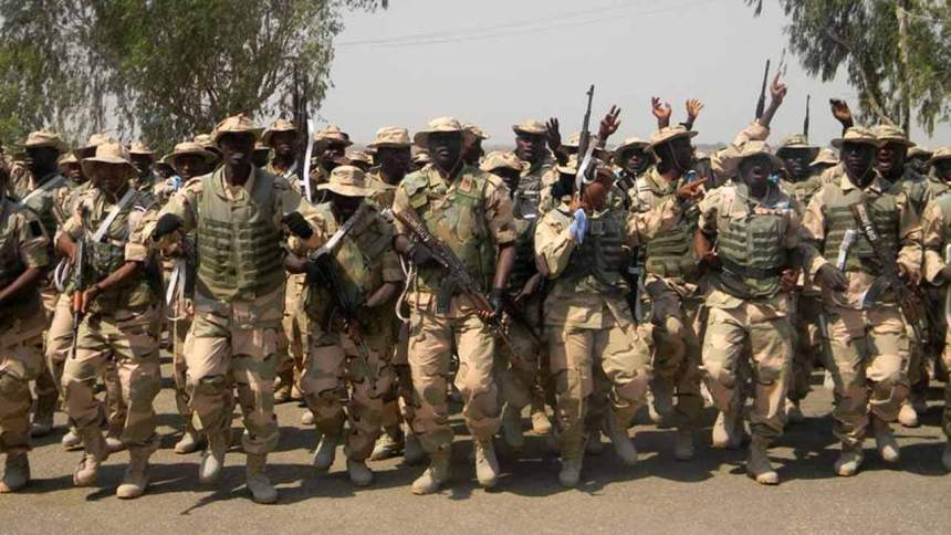 Nigerian soldiers in Damataru