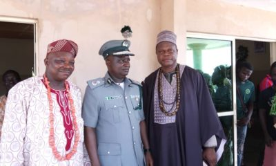 Comptroller Peters with the Oba of Badagry
