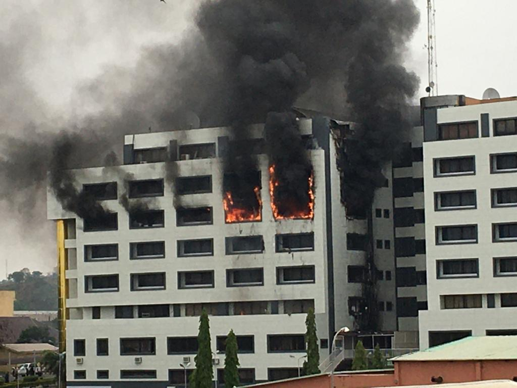 ACCOUNT GENERAL OFFICE ON FIRE
