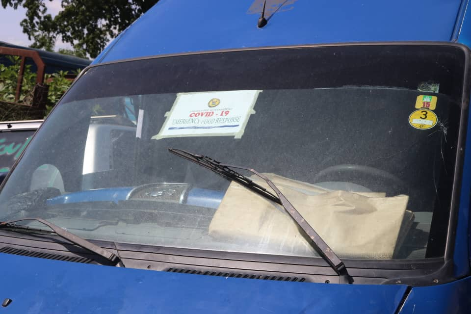 A Closer Look at the Pasted COVID-19 Sticker on the Vehicle that Smuggled the Poultry Product Intercepted by Nigeria Customs Service - FOU