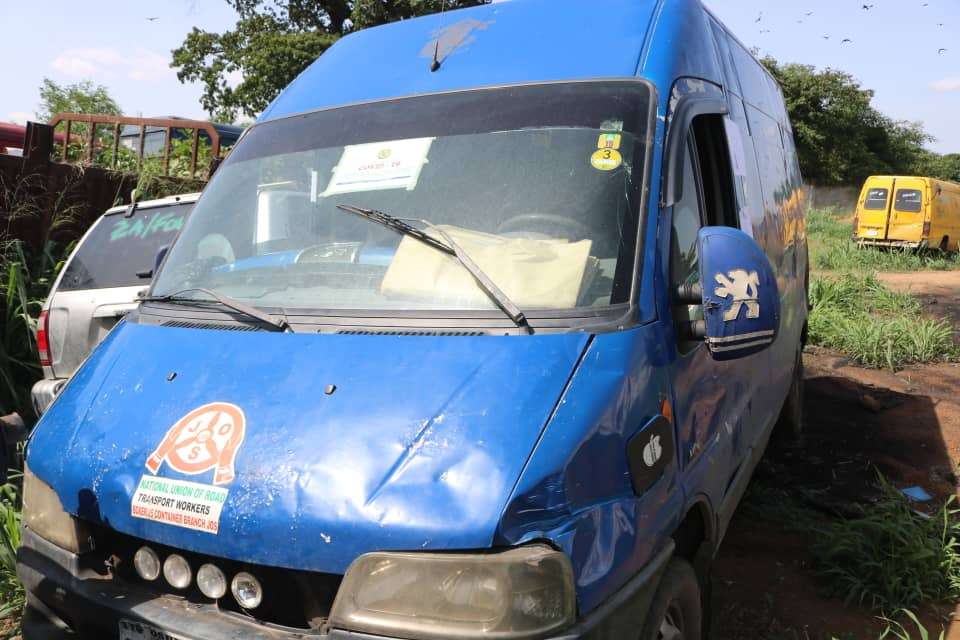 """Full View of the Vehicle which """"COVID-19 Vehicle was branded - Intercepted by the Nigeria Customs Service"""