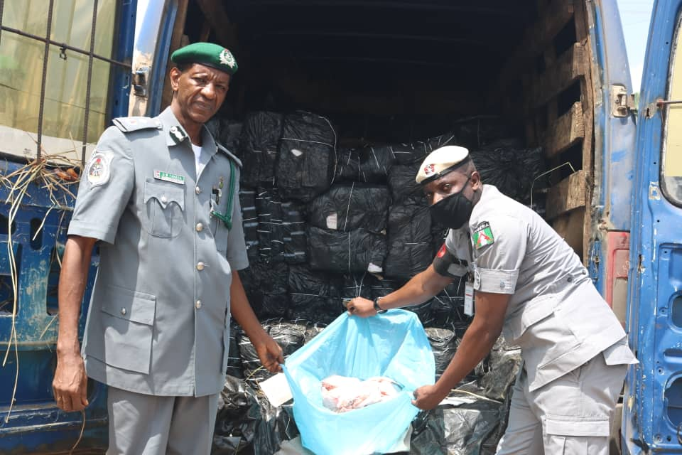 COVID-19 Vehicle Smuggling Poultry Product Caught By Nigeria Customs