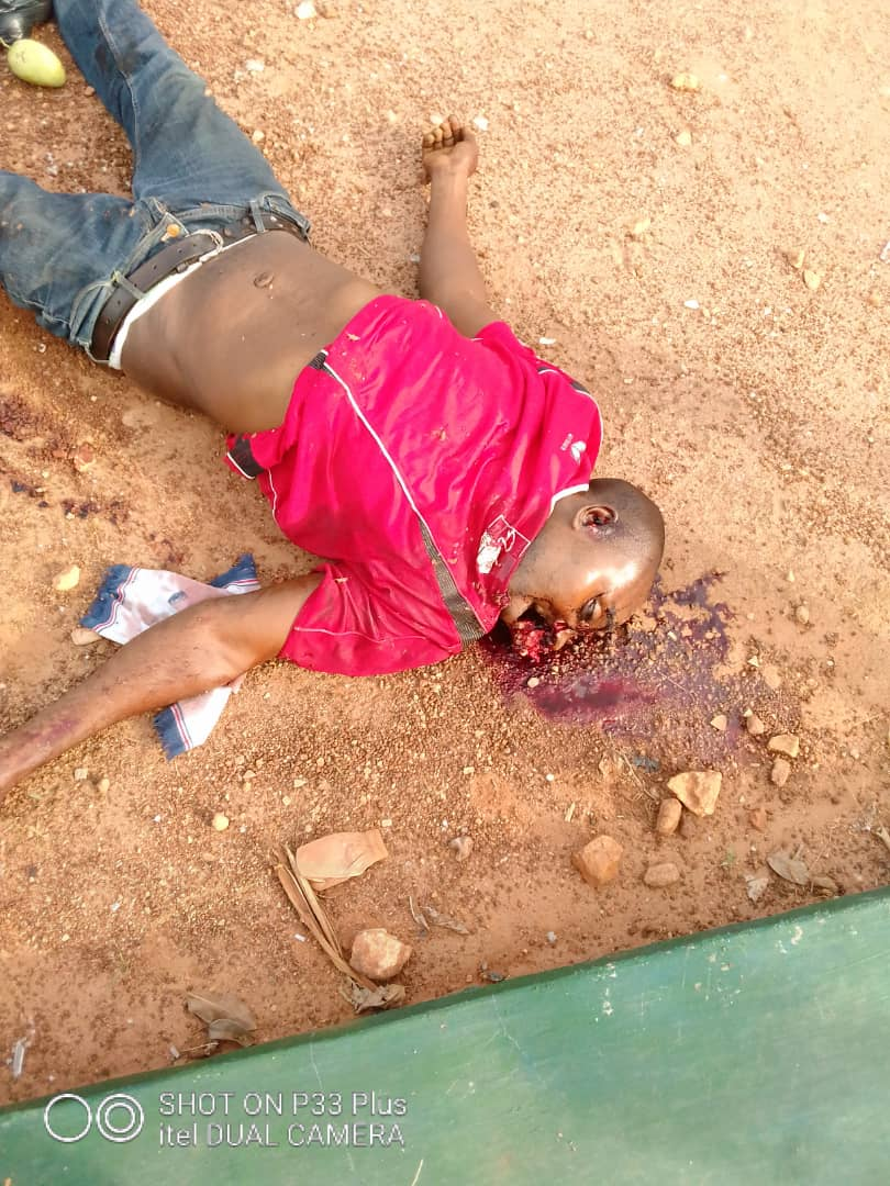 Unknown Dead Person at the Scene of Incident - Isanlu Kogi State Robbery - First Bank