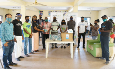 MAX International Donates COVID-19 Support Items To Lagos State Government (photos)