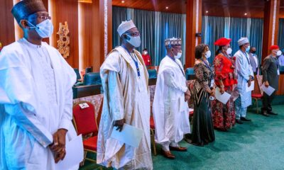 President Buhari Swears in 12 Permanent Secretaries