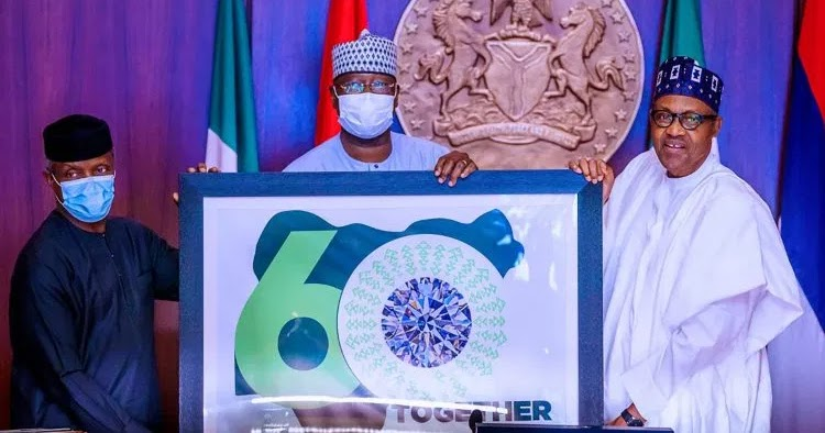 President Muhammadu Buhari has unveiled Nigeria's 60th Anniversary Logo with a pledge that his administration will continue to work towards greater inclusiveness.