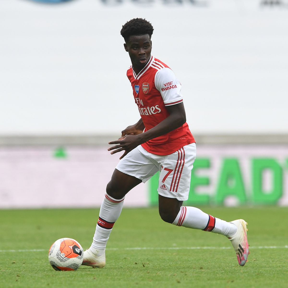 Bukayo Saka Delighted to Get Three Lions' First Call Up