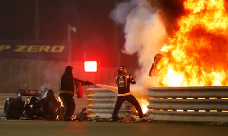 Bahrain GP Crash
