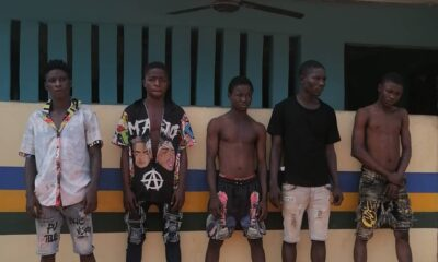FIVE CULTISTS ARRESTED OVER THE DEATH OF A 25 YR OLD MAN