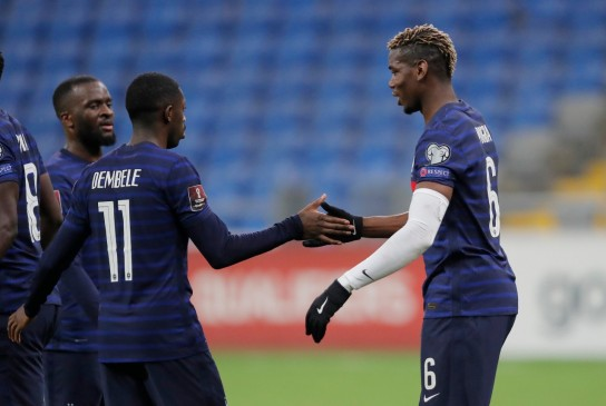 Ousmane Dembele scored the opening goal as holders France beat Kazakhstan 2-0 away on Sunday to claim the first victory in their campaign to qualify for the 2022 World Cup in Qata