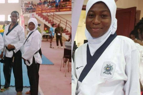 Eight- Month Pregnant Aminat Idrees Wins Gold Medal at NSF