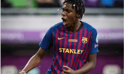 Nigerian striker, Asisat Oshoala, has made history as the first African female player to win the UEFA Women's Champions League.