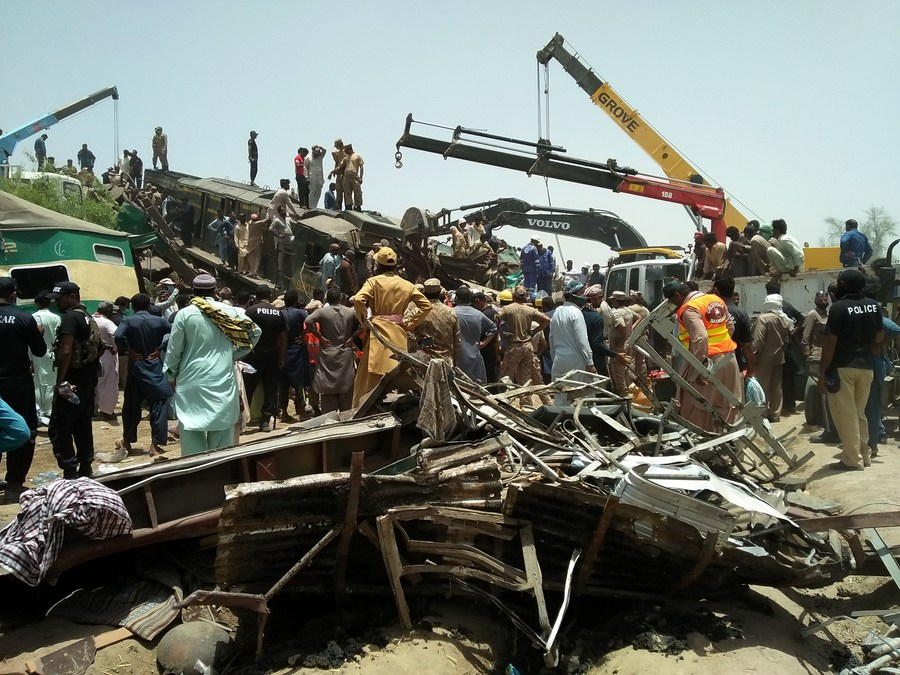 Death Toll from Pakistan's Train Collision Rises to 62, Over 100 Injured